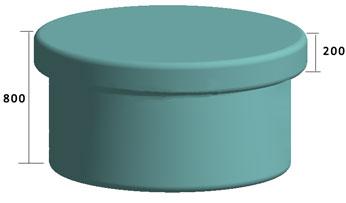 Классический круглый стол для хамама (турецкой бани)